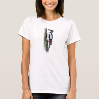 Classic Zoological Etching - Woodpecker T-Shirt