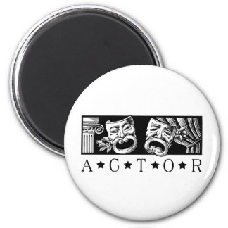 Classical Actor 2 Inch Round Magnet