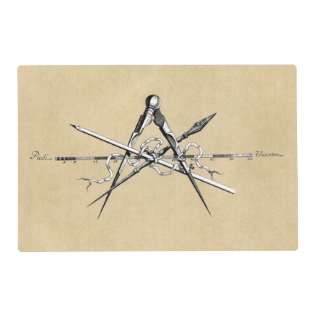 Classical Architecture Drafting Tools Placemat at Zazzle