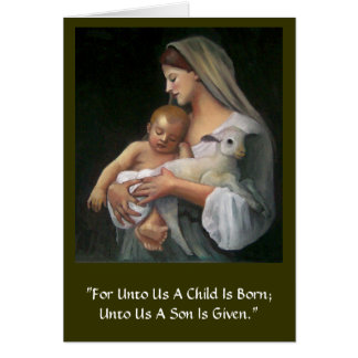 Madonna And Child Greeting Cards | Zazzle
