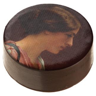Classical Beauty by John William Godward Chocolate Dipped Oreo