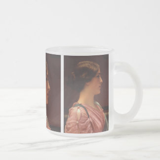 Classical Beauty by John William Godward Frosted Glass Coffee Mug