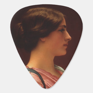 Classical Beauty by John William Godward Guitar Pick