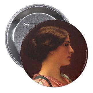 Classical Beauty by John William Godward Pinback Button