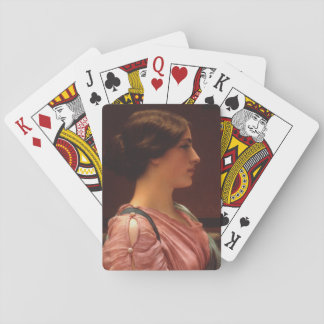 Classical Beauty by John William Godward Playing Cards