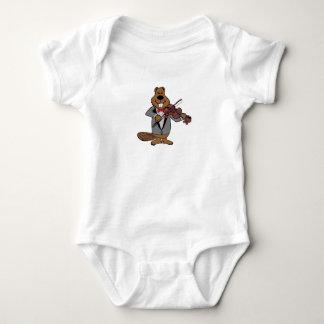 classical beaver baby bodysuit