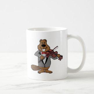classical beaver coffee mug