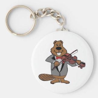 classical beaver keychain