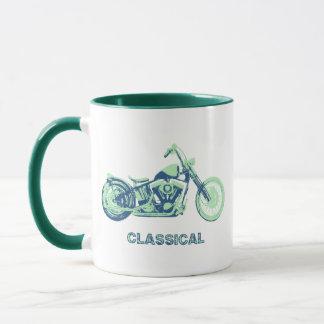 Classical -blu-grn mug