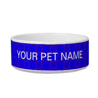 Classical blue and purple Pet Bowl