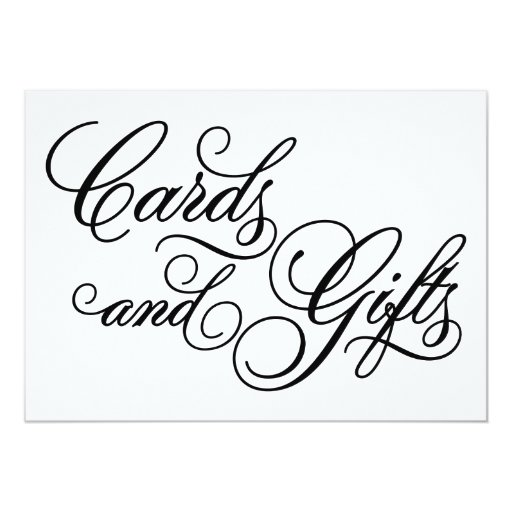 Wedding Gift Card Sign : Classical Cards & Gifts Wedding Sign Zazzle