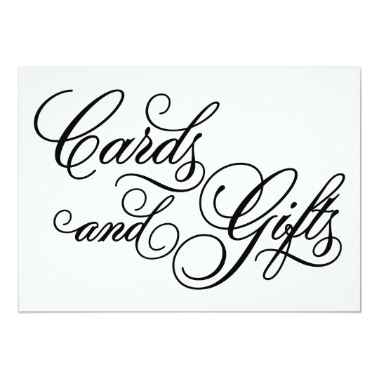 Classical | Cards & Gifts Wedding Sign | Zazzle.com