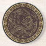 Classical Chinese Dragon Sandstone Coaster