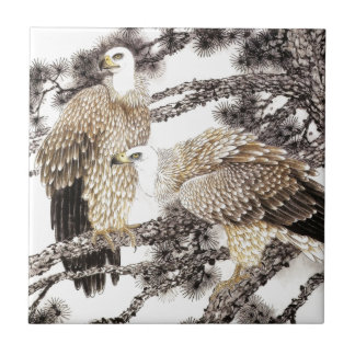 Classical Chinese style art Birds in the trees Tiles