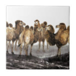 Classical Chinese style art, Herd of Camels Ceramic Tile