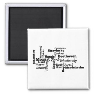 Classical Composers Word Cloud Refrigerator Magnet
