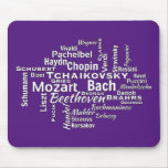 Classical Composers Word Cloud Mouse Pad