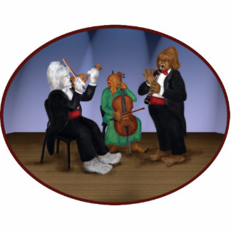 Classical Cryptids Chamber Music Concert  Ornament Cut Out