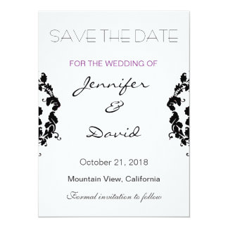Classical Damask Exclusive Wedding Invitation