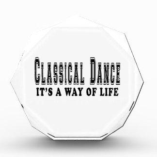 Classical Dance It's way of life Acrylic Award