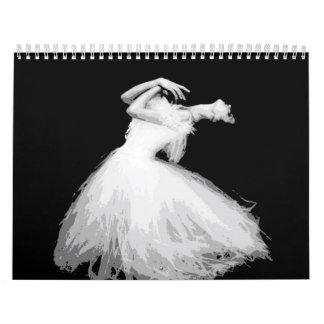Classical dancer looks like it's flying calendar