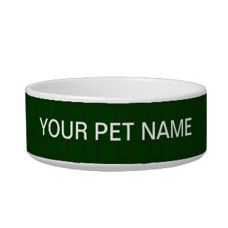Classical dark green Pet Bowl