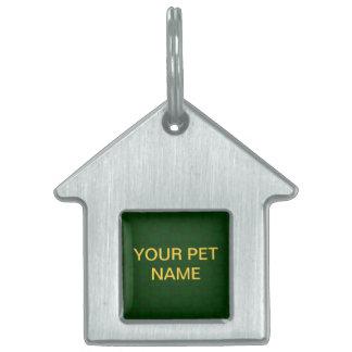 Classical dark green Pet Tag