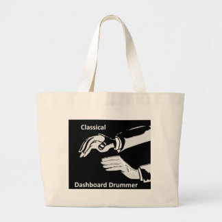 Classical Dashboard drummer wear Large Tote Bag