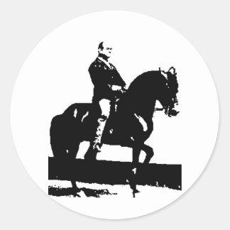 Classical Dressage 12 Classic Round Sticker
