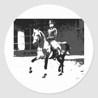 Classical Dressage 13 Classic Round Sticker