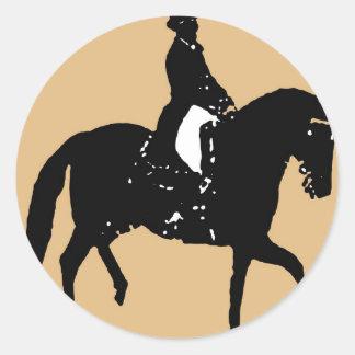 Classical Dressage 17 Classic Round Sticker