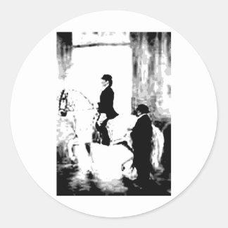 Classical Dressage 4 Classic Round Sticker