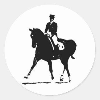 Classical Dressage 7 Classic Round Sticker
