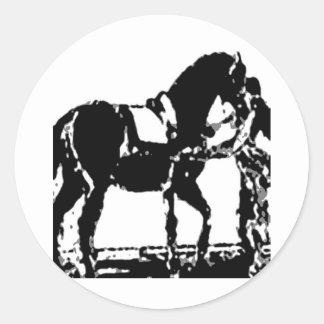 Classical Dressage 8 Classic Round Sticker