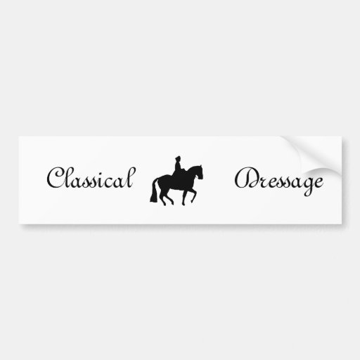 Classical Dressage Clipart Car Bumper Sticker