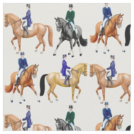 Classical Dressage Horse Equestrian Fabric
