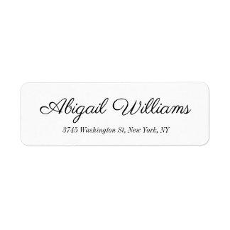 Classical Elegant Handwriting Script White Label