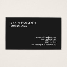 Classical Elegant Plain Professional Grey Business Card at Zazzle