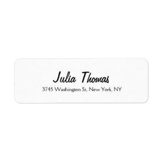Classical Elegant Plain Simple Professional White Label