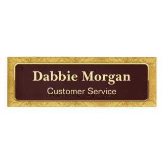 Classical Gold Glitter Frame and Custom Name Title Name Tag