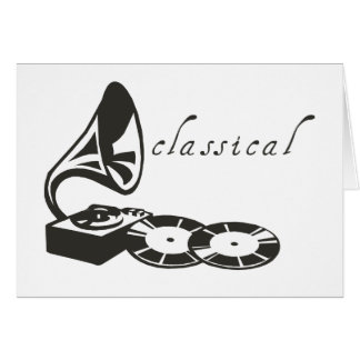 Classical Gramophone Card
