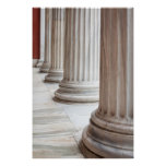 Classical Greek Columns Poster