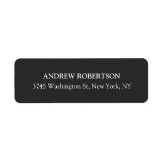 Classical Grey Plain Elegant Return Address Label
