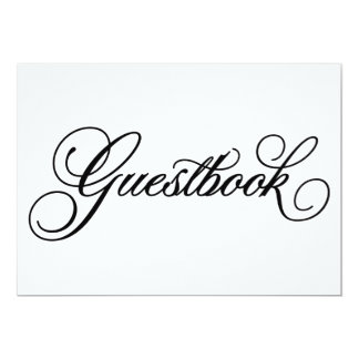 Classical | Guestbook Wedding Sign 5x7 Paper Invitation Card
