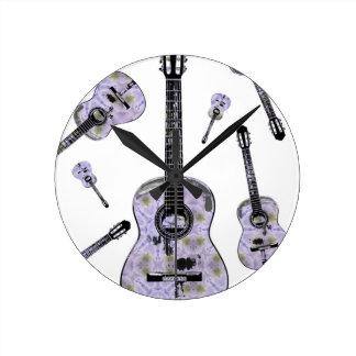 Classical guitar 11.jpg round clock