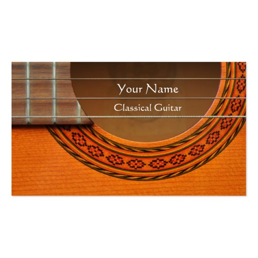 Classical Guitar business card