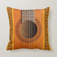 Classical guitar cushion pillow
