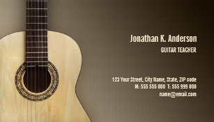 guitar lessons business cards zazzle