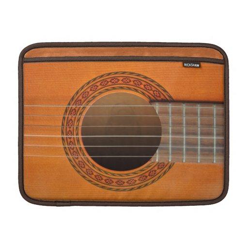 Classical guitar orange tan MacBook sleeve