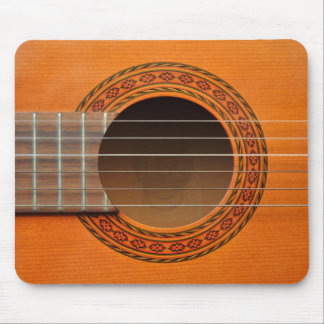 Classical guitar orange tan mouse pad